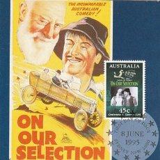 Sellos: AUSTRALIA, ON OUR SELECTION, PELICULA DE 1932, TARJETA MÁXIMA DE 8-6-1995. Lote 113393943