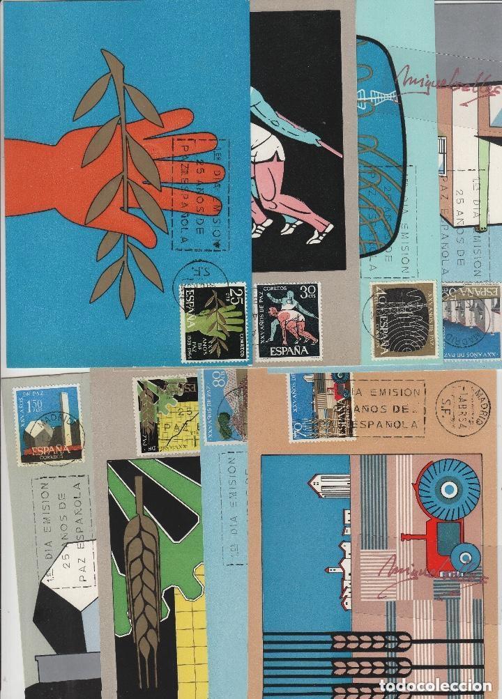 Sellos: 1576/89 año 1964 -XXV AÑOS DE PAZ ESPAÑOLA - en TM /TARJETA MÁXIMA PRIMER DÍA - Foto 2 - 116128167
