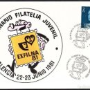 Sellos: TARJETA EXFILNA 81 -SEMINARIO FILATELIA JUVENIL - PALENCIA. Lote 117893955