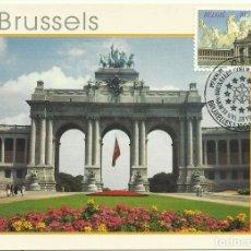 Sellos: 1996 TARJETA MÁXIMA BRUSELAS PALACIO DEL CINCUENTENARIO ARCO. Lote 120282587
