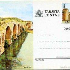 Sellos: TARJETA POSTAL. PUENTE ROMANO - MÉRIDA. BADAJOZ. 1984. Lote 120800911