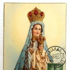 Francobolli: TARJETA MAXIMA NUESTRA SEÑORA DE BEGOÑA. MATASELLOS BILBAO 1961.. Lote 121639043