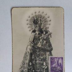 Sellos: TARJETA CON SELLOS ESPAÑA - 1963 VIRGEN DE LOS DESAMPARADOS - PATRONA DE VALENCIA. Lote 122097527