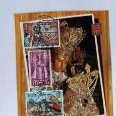 Sellos: TARJETA CON SELLOS - 1978 VALENCIA - 1156 NUESTRA SEÑORA DE LOS DESAMPARADOS - IV CONGRESO MEDICINA. Lote 122101807