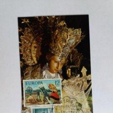 Sellos: TARJETA CON SELLOS - 1975 VALENCIA - NUESTRA SEÑORA DE LOS DESAMPARADOS - FERIA DE NUESTRAS. Lote 122102215