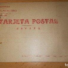 Sellos: ANTIGUA TARJETA POSTAL SASTRERIA MARTIN MONTORO, BADAJOZ, AÑO 1918. Lote 126188667