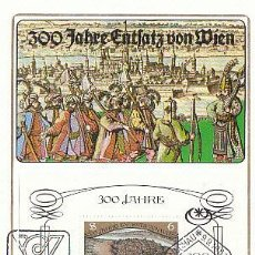 Sellos: AUSTRIA IVERT 1578, 3º CENTENARIO DEL ASEDIO DE VIENA POR LOS OTOMANOS, TARJETA MÁXIMA DE 9-9-1983 . Lote 128626787