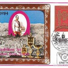Sellos: AUSTRIA IVERT 1604, LA ERA DEL EMPERADOR FRANCISCO JOSÉ, MÁXIMA DE 18-5-1984. Lote 128626951