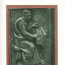 Sellos: VATICANO IVERT Nº 442, OFICIOS MEDIEVALES, MUSICO, TARJETA MAXIMA DEL 8-3-1966. Lote 128635743