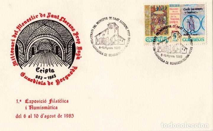 SOBRE Y TARJETA 1º EXP. FILATÈLICA I NUMISMÀTICA 1983 (Sellos - España - Tarjetas)