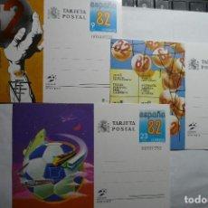 Sellos: LOTE TARJETAS POSTALES FUTBOL ESPAÑA 82. Lote 130827160