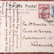 Sellos: TARJETA POSTAL CON SELLO EXPOSICION INTERNACIONAL DE BARCELONA - 5 CENTIMOS. Lote 133199394