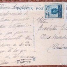 Sellos: TARJETA POSTAL CON SELLO DEL AYUNTAMIENTO DE BARCELONA Y MILENARIO DE CASTILLA. Lote 133199570