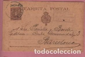 TARJETA POSTAL COMERCIAL - IMPRENTA Y LIBRERIA P. TORRES DE GERONA - GIRONA 1904 (Sellos - Extranjero - Tarjetas)