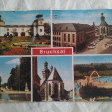 Stamps - POSTAL CIRCULADA 1978 BRUCHSAL STTUTTGAR, ALEMANIA CON SELLO y MATASELLO ISA 78 - 137195722