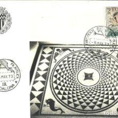 Sellos: TARJETA IX EXPOSICIÓN FILATELICA DE BADALONA - 1973. Lote 140584866