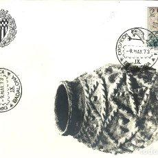 Sellos: TARJETA IX EXPOSICIÓN FILATELICA DE BADALONA - 1973. Lote 140586494