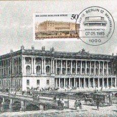 Sellos: ALEMANIA BERLIN IVERT 701, LA BOLSA DE BERLIN (EDIFICIO DE 1863), MÁXIMA DE 7-5-1985. Lote 142172638