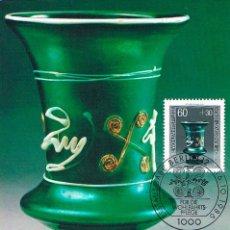 Sellos: ALEMANIA BERLIN IVERT 727, COPA EN VIDRIO SIGLO II (MUSEO DE COLONIA), MÁXIMA DE 16-10-1986. Lote 142172866