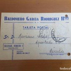 Sellos: TARJETA POSTAL BADAJOZ - BALDOMERO GARCÍA. Lote 142225378