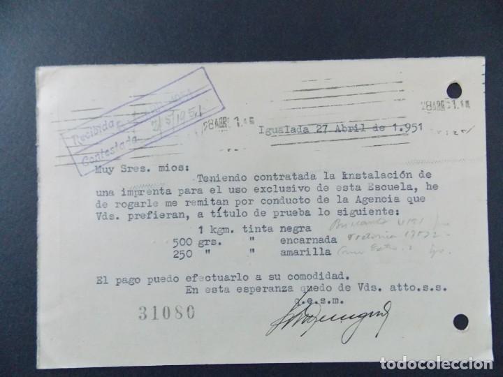 Sellos: TARJETA COMERCIAL , ESCUELA SUPERIOR RADIOELECTRICIDAD , IGUALADA (BARCELONA) ,CIRCULADA 1951 .A656 - Foto 2 - 143084374