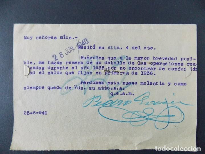 Sellos: TARJETA COMERCIAL , ALMACENES LA ESMERALDA , TEJIDOS , VALLADOLID , CIRCULADA 1939 ..A666 - Foto 2 - 143087138