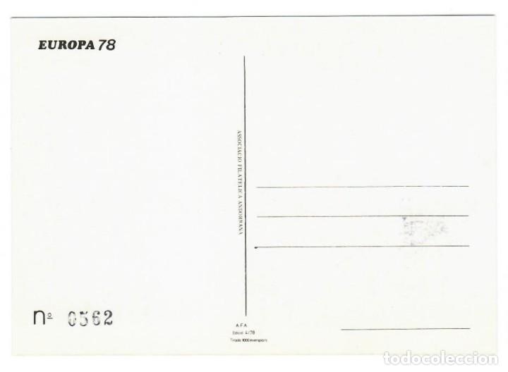 Sellos: Andorra 1978 - Primer día - Esglesia de Pal - Asociación filatélica andorrana - 1000 ejemplares - Foto 2 - 143287310