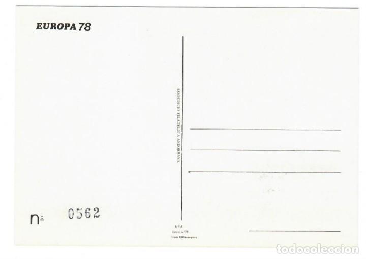 Sellos: Andorra 1978 - Primer día - Casa de Carlemany - Asociación filatélica andorrana - 1000 ejemplares - Foto 2 - 143287650