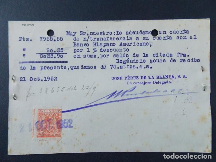 Sellos: TARJETA COMERCIAL, ALMACENES TEJIDOS LA MAGDALENA, JOSE PEREZ DE LA BLANCA S. A, GRANADA 1952 ..A724 - Foto 2 - 143710214