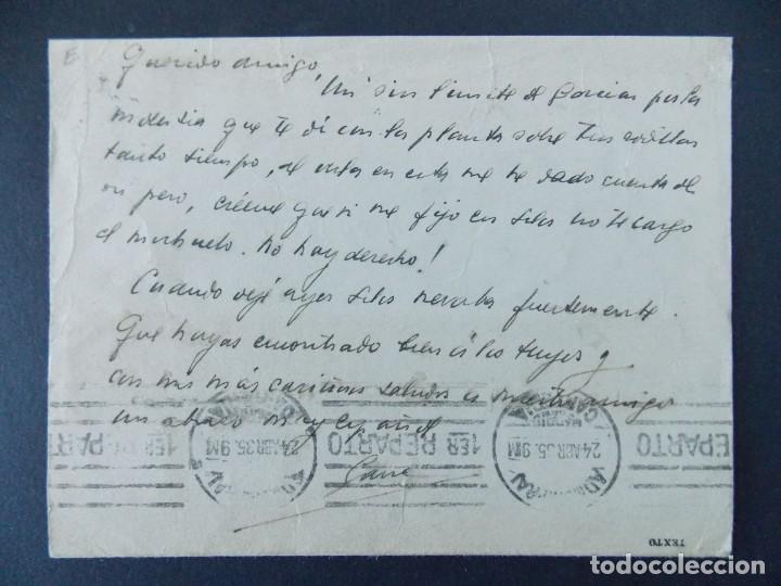Sellos: TARJETA COMERCIAL, MAQUINARIA Y HERRAMIENTAS, CIRILO DE GANA, BILBAO, CIRCULADA 1935 ..A730 - Foto 2 - 143790126