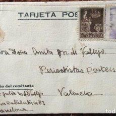 Sellos: TARJETA POSTAL CON SELLO DEL AYUNTAMIENTO DE BARCELONA. Lote 144212466
