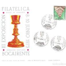 Sellos: TARJETA RECUERDO III EXPOSICION FILATELICA BOCAIRENTE. Lote 146034034