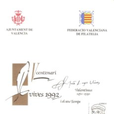 Selos: HOJA RECUERDO LUIS VIVES. VALENCIA. Lote 146034582