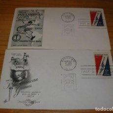 Sellos: 2 SOBRES DE USA JUEGOS PANAMERICANOS DE 1959 . Lote 146254782
