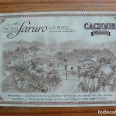 Sellos: TARJETA PUBLICITARIA DE CACIQUE. Lote 146257418