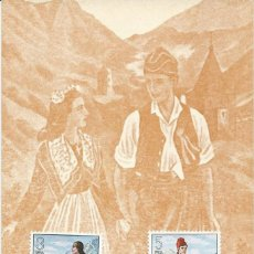 Sellos: 1979. ANDORRA. MÁXIMA/MAXIMUM CARD. FOLKLORE. VESTIDOS TÍPICOS/TRADITIONAL DRESSES.. Lote 146609094