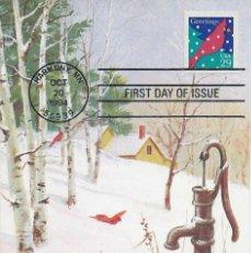 Sellos: 1994. ESTADOS UNIDOS/USA. MÁXIMA/MAXIMUM CARD. NIEVE/SNOW. INVIERNO/WINTER. PRIMER DIA/FIRST DAY.. Lote 147564010