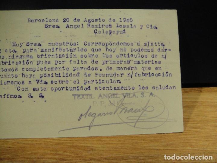 Sellos: tarjeta postal comercial textil angel vila, barcelona - Foto 2 - 147688938
