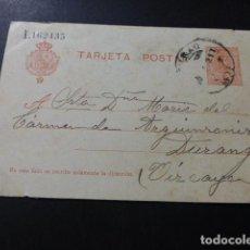 Sellos: TARJETA POSTAL CIRCULADA DE BILBAO A DURANGO 1921. Lote 147763314