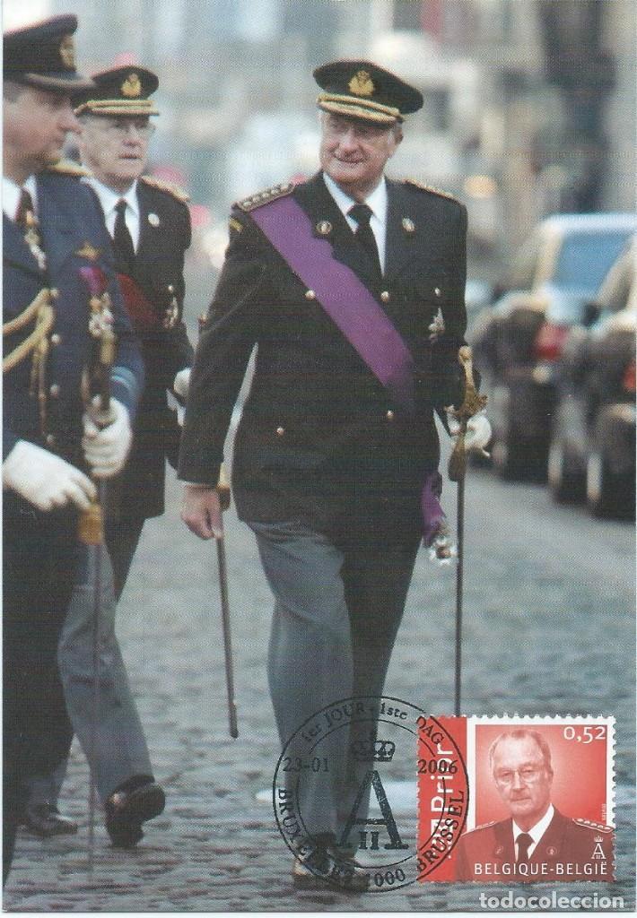 2006. BÉLGICA/BELGIUM. MÁXIMA/MAXIMUM CARD. TRIPLE. REY ALBERTO II. KINGS. MONARQUÍA/MONARCHY. (Sellos - Extranjero - Tarjetas Máximas)