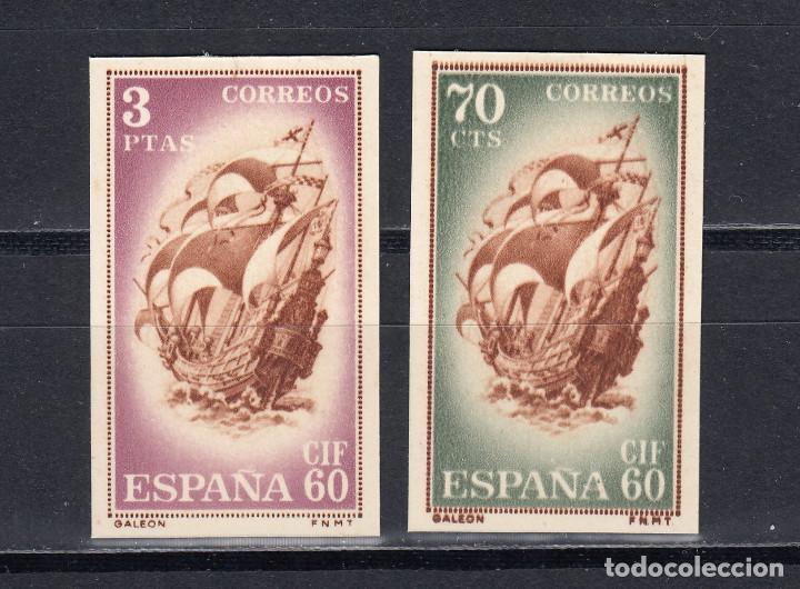 TARJETA ENTERO POSTAL. SELLOS RECORTADOS. BARCELONA 1960. EDIFIL 88/89 (Sellos - España - Tarjetas)