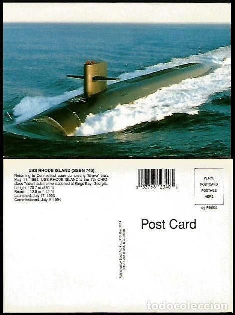 USA TP SUBMARINO NUCLEAR RHODE ISLAND (Sellos - Extranjero - Tarjetas)