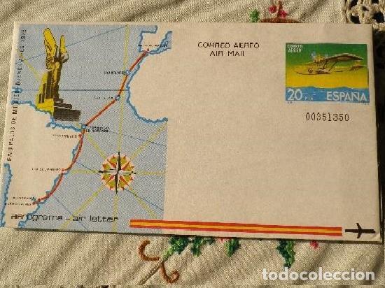 ESPAÑA 1981.- AEROGRAMA.- RAID PALOS DE MOGUER-BUENOS AIRES 1926 (Sellos - Extranjero - Tarjetas)