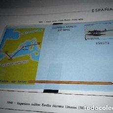 Sellos: AEROGRAMA ESPAÑA 1989.AVIATION.LINEA AEREA CADIZ/ MELILLA. Lote 155168998