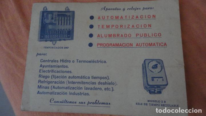 Sellos: ANTIGUA TARJETA COMERCIAL.INDUSTRIAS ORBIS.FABRICA APARATOS ELECTRICOS Y RELES DE TIEMPO.MADRID - Foto 2 - 155417070