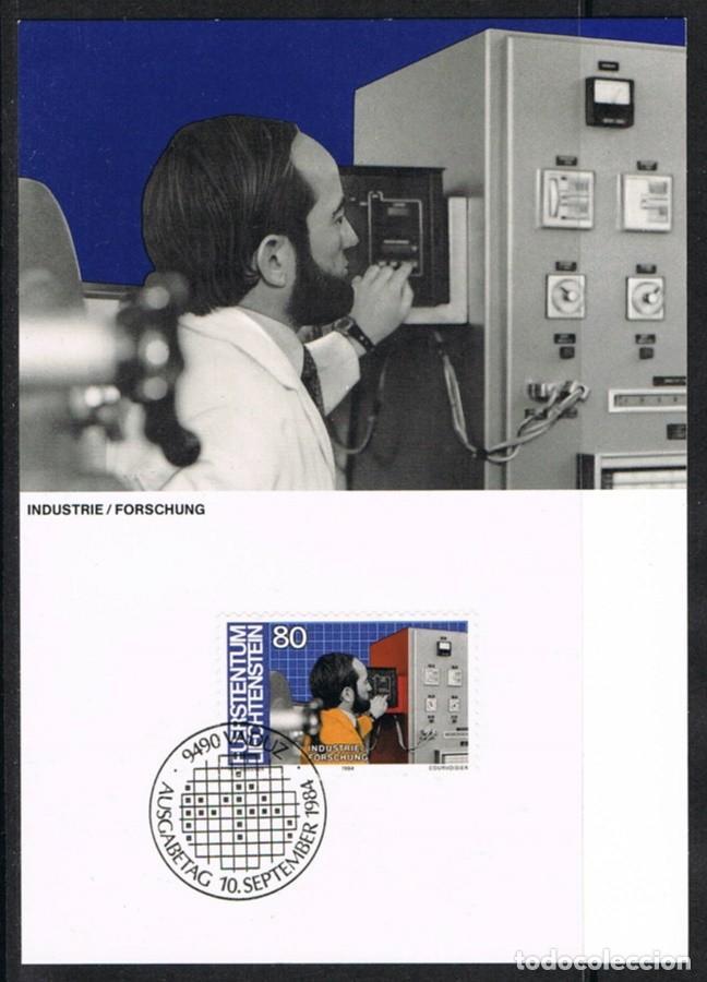 [EF0250] LIECHTENSTEIN 1984, TARJETA MÁXIMA - MAXICARD Nº 49-09 (M) (Sellos - Extranjero - Tarjetas Máximas)