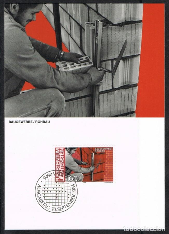 [EF0251] LIECHTENSTEIN 1984, TARJETA MÁXIMA - MAXICARD Nº 49-10 (M) (Sellos - Extranjero - Tarjetas Máximas)