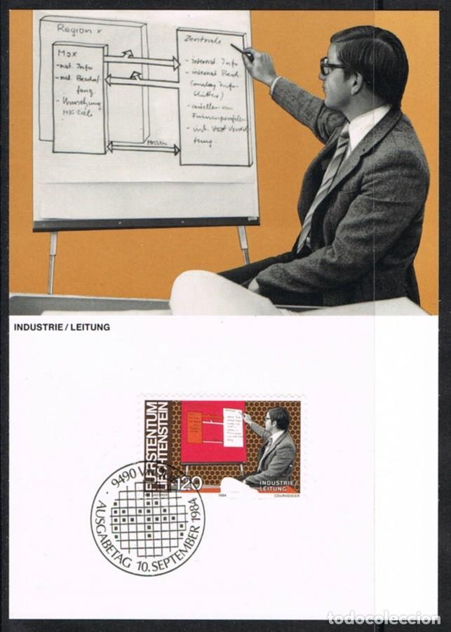[EF0252] LIECHTENSTEIN 1984, TARJETA MÁXIMA - MAXICARD Nº 49-11 (M) (Sellos - Extranjero - Tarjetas Máximas)
