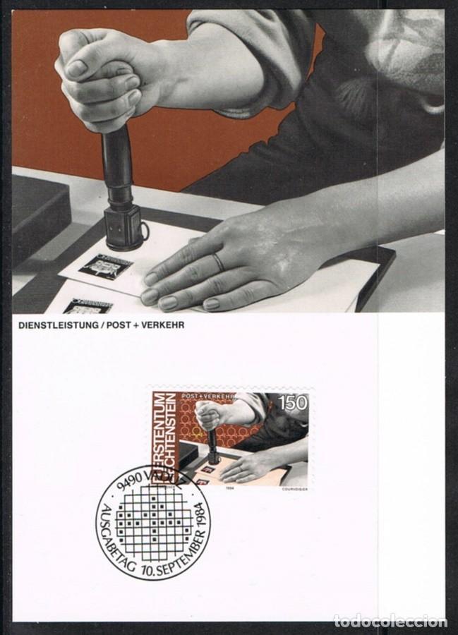 [EF0253] LIECHTENSTEIN 1984, TARJETA MÁXIMA - MAXICARD Nº 49-12 (M) (Sellos - Extranjero - Tarjetas Máximas)