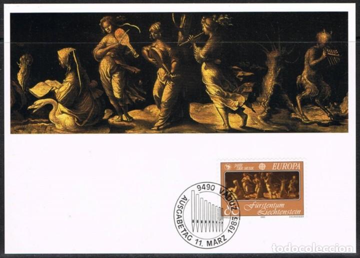 [EF0260] LIECHTENSTEIN 1985, TARJETA MÁXIMA - MAXICARD Nº 52-02 (M) (Sellos - Extranjero - Tarjetas Máximas)